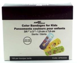 Pansement de couleur pour enfant.