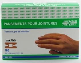 Pansement en tissu pour jointure souple