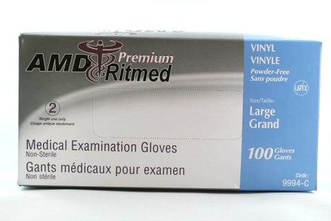 Boîte de gants de vinyles clairs